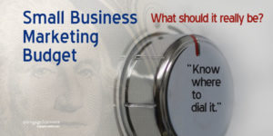 a real small business marketing budget