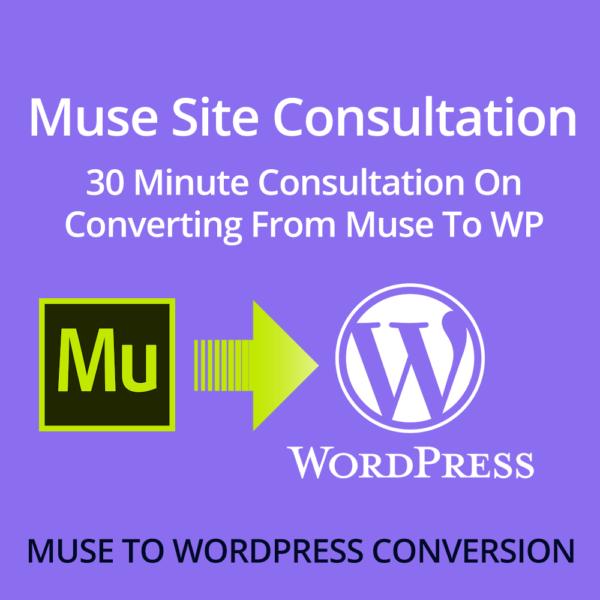 Muse site conversion consultation