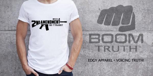 AR15 Second Amendment T-shirt Boom Truth