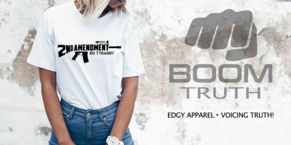 Womens AR15 Second Amendment T-shirt Boom Truth