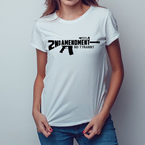 Second Amendment AR15 T-shirt Women Boom Truth