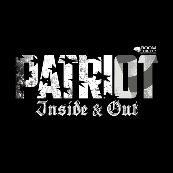 T-shirt Patriot Inside & Out Design- Boom Truth